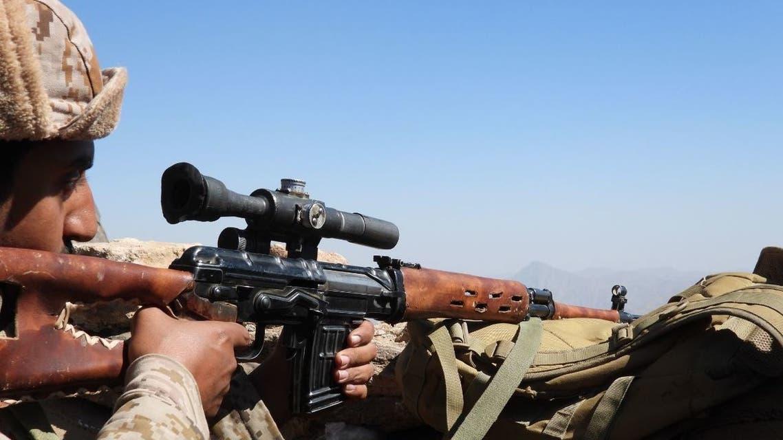 عنصر من الجيش اليمني في مأرب