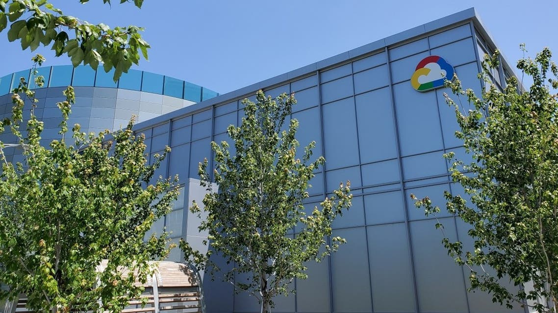 A Google Cloud logo outside of the Google Cloud computing unit's headquarters at the Moffett Place office complex in Sunnyvale, California, US. (Reuters)