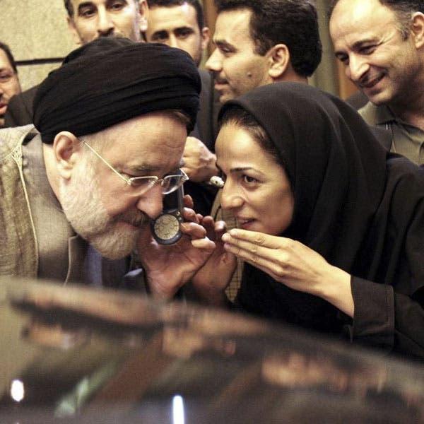 مسيح علي نجاد مع الرئيس الإصلاحي محمد خاتمي