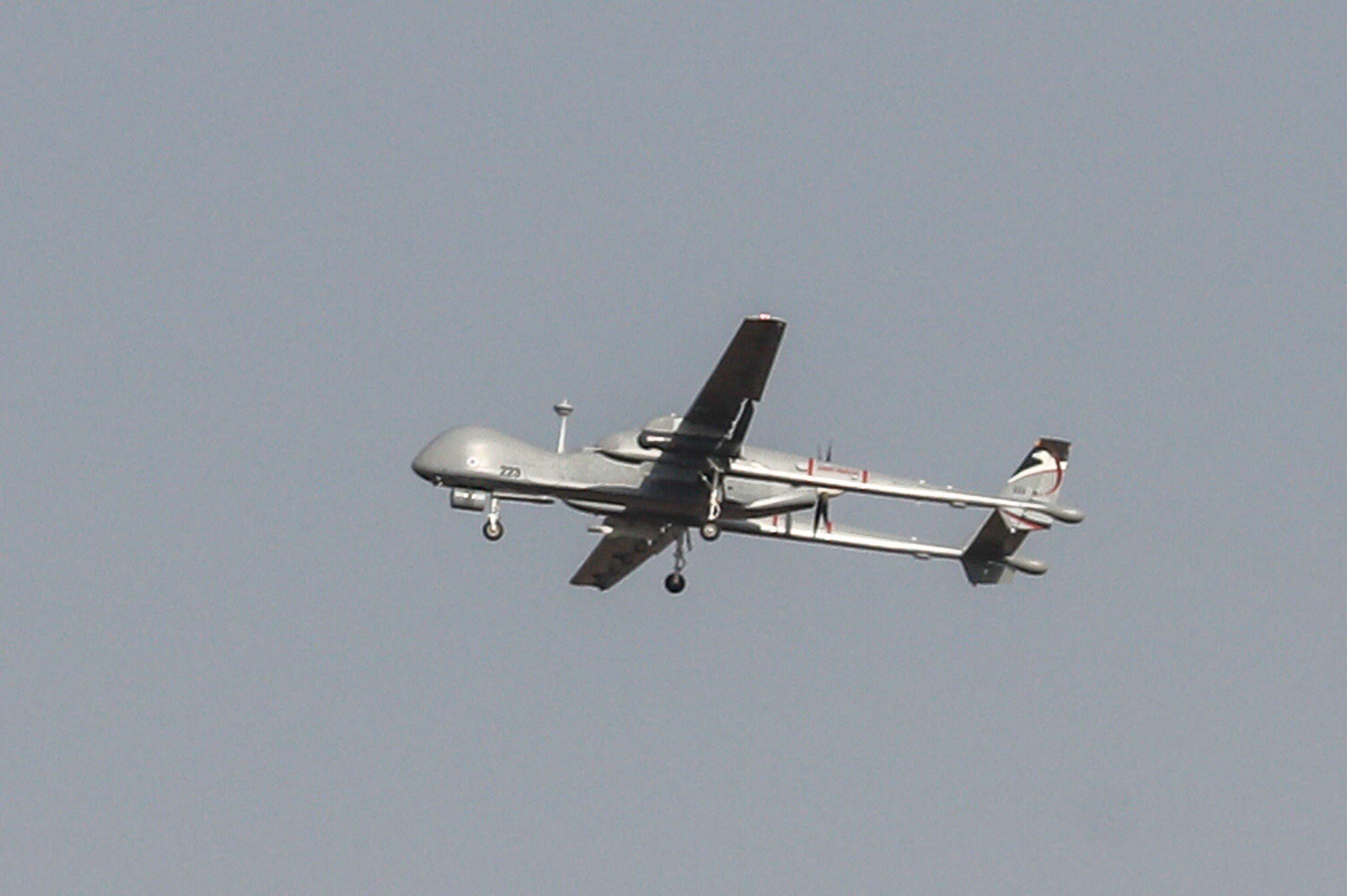 طائرة مسيرة عسكرية إسرائيلية تحلق فوق الحود الشمالية لإسرائيل (أرشيفية)