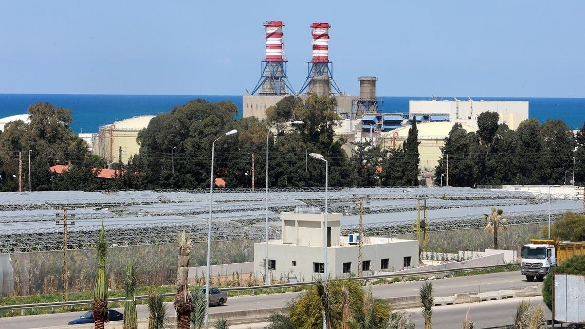 A view shows the Zahrani Power plant, in Zahrani, Lebanon March 29, 2021. (Reuters)