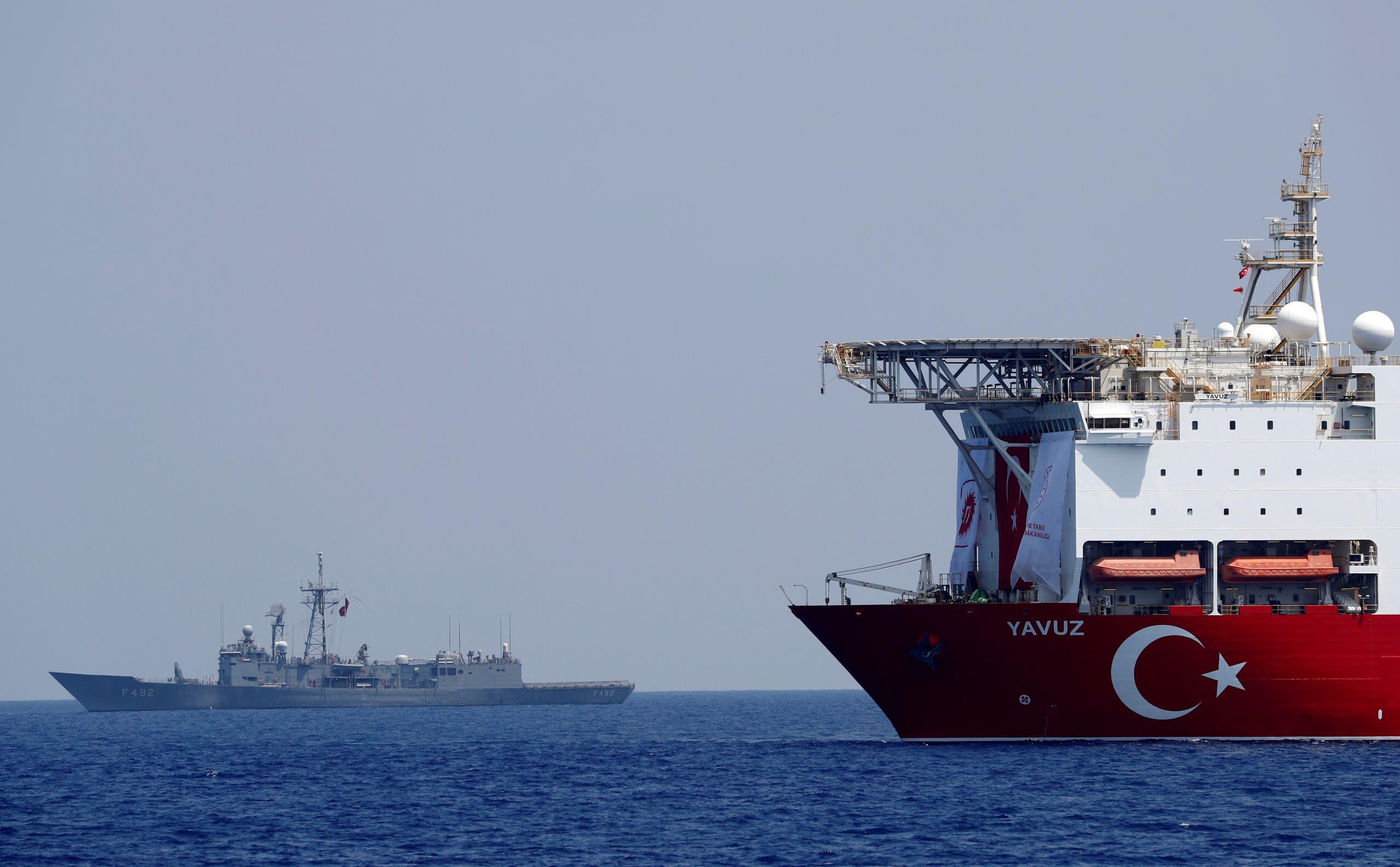 سفينة تنقيب تركية في شرق المتوسط قبالة قبرص (أرشيفية)