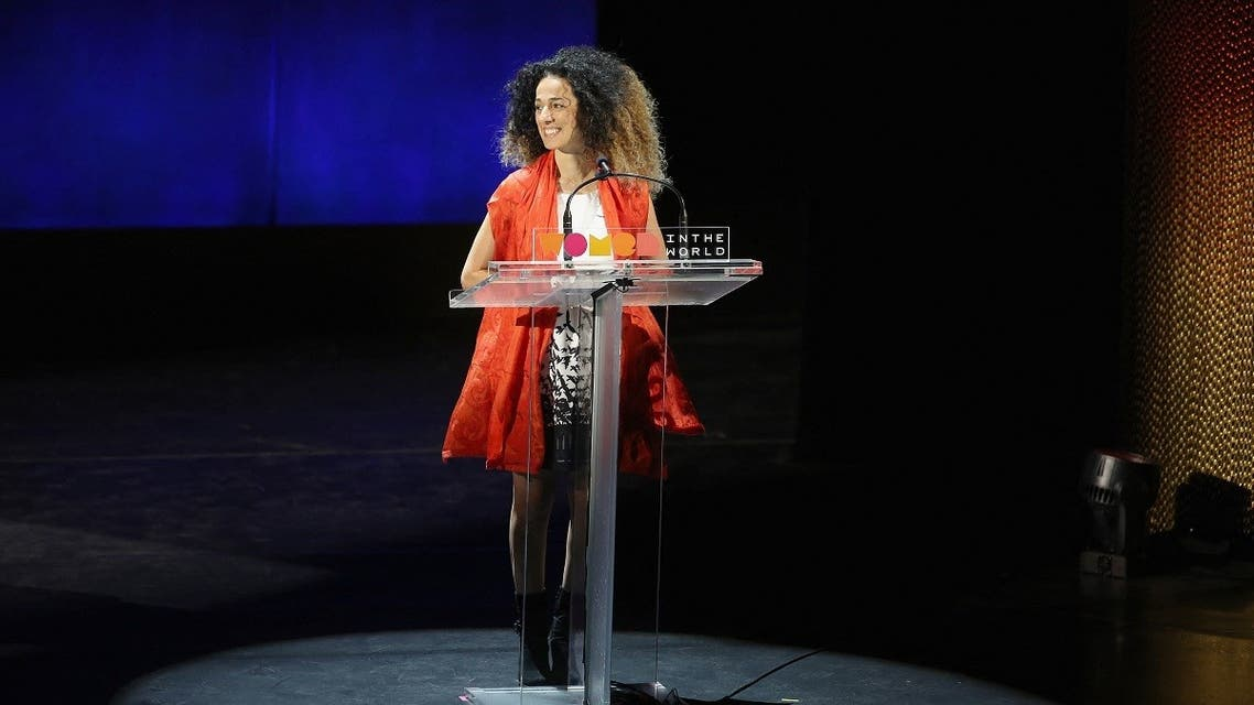 Masih Alinejad speaks onstage at Meryl Streep and Leaders of Tomorrow: Call to Action during Tina Brown's 7th Annual Women in the World Summit at David H. Koch Theater at Lincoln Center on April 8, 2016 in New York City. (AFP)