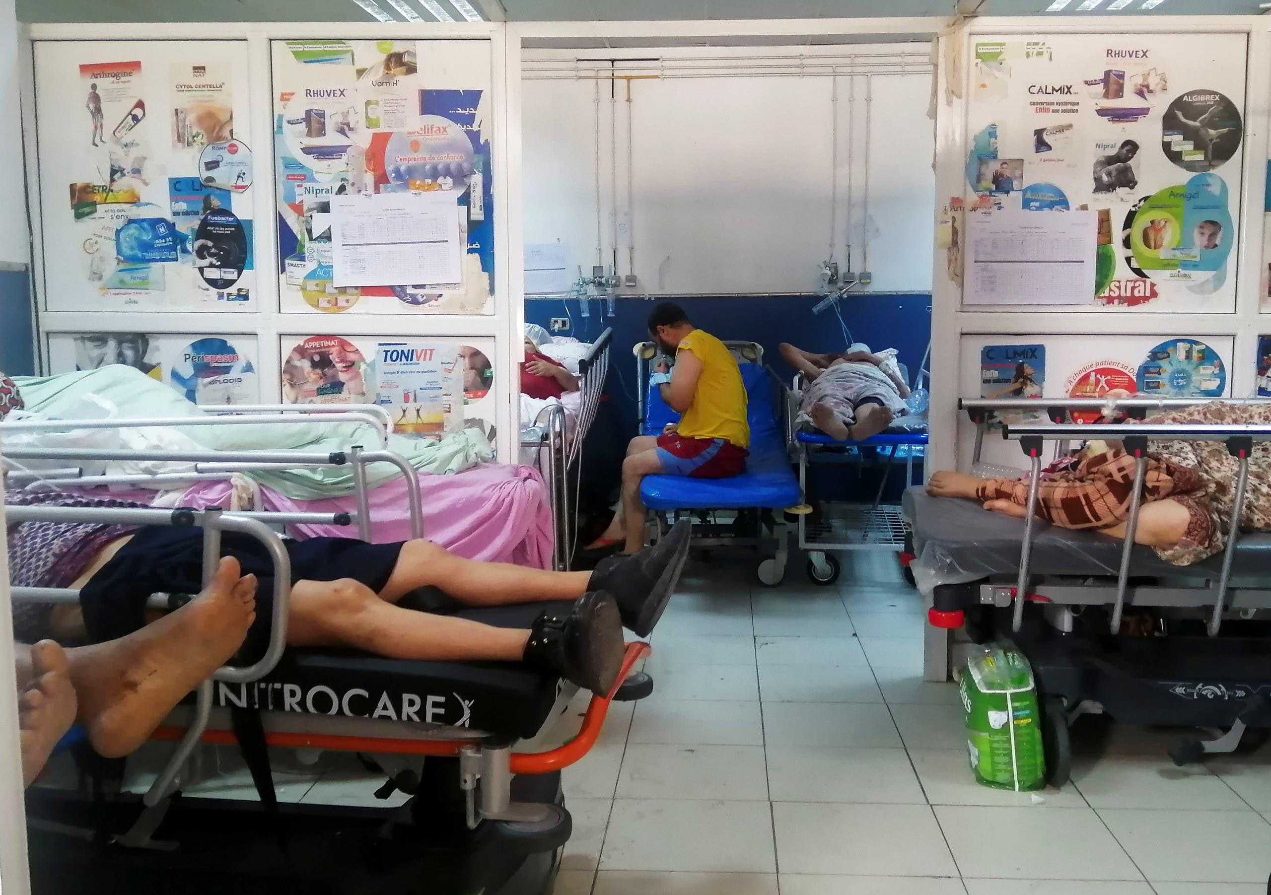 مصابون بكورونا في أحد مستشفيات تونس