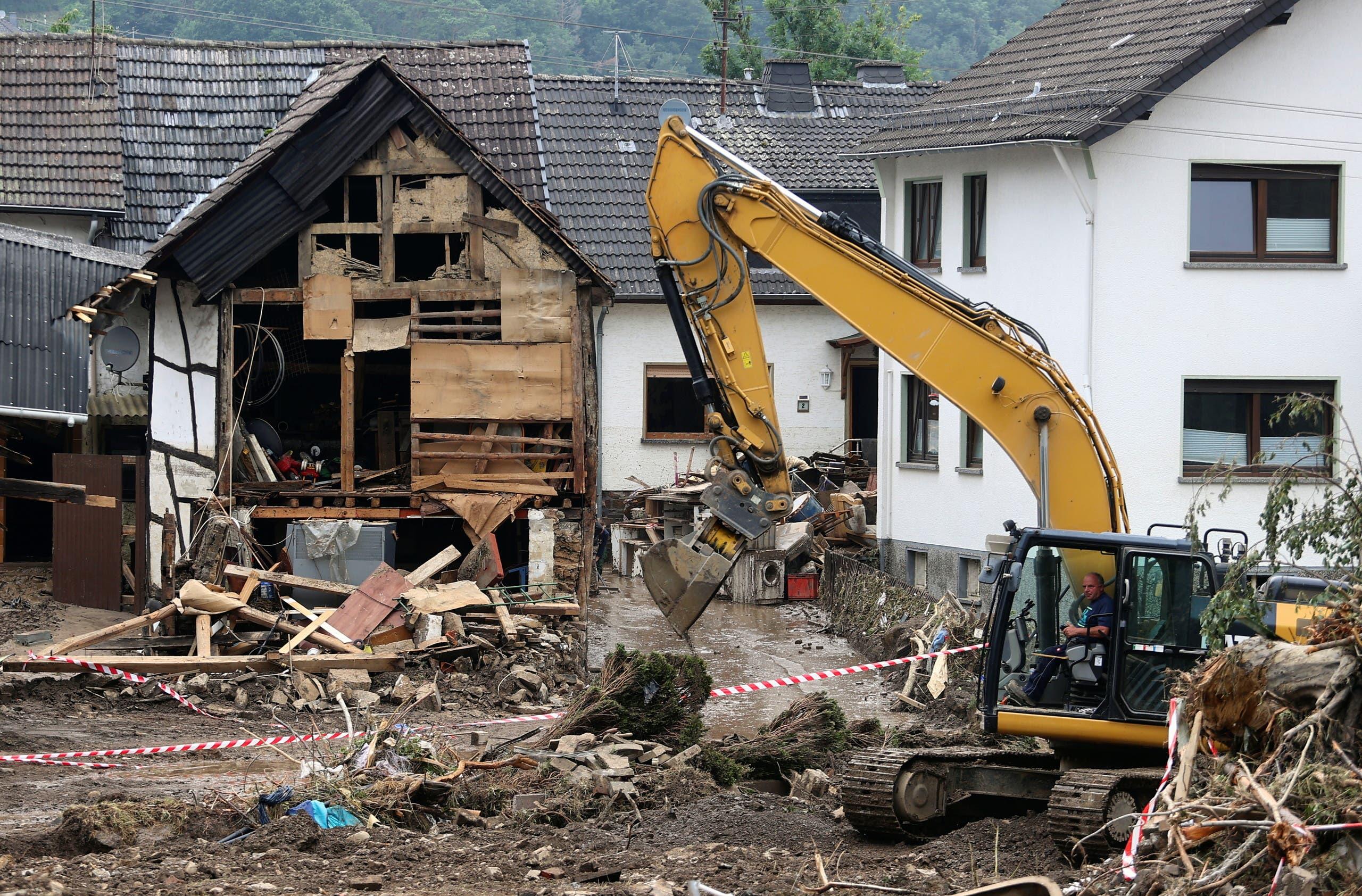 أضرار خلفتها الفيضانات في ألمانيا