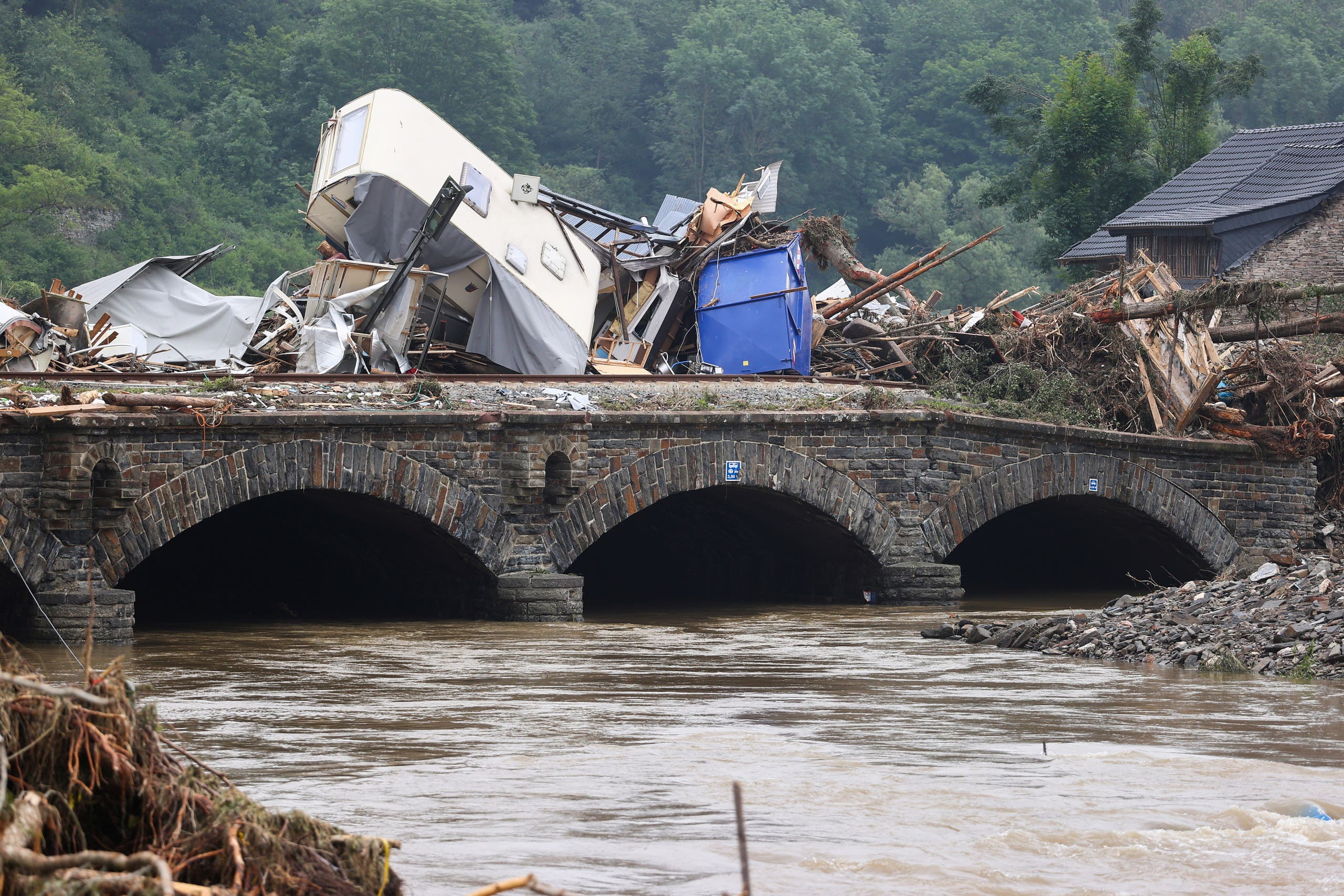 فيضان أحد الأنهار في ألمانيا