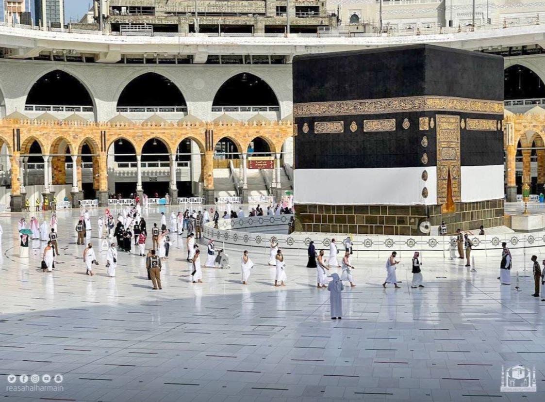 Muslims begin the Hajj ritual on July 17, 2021 amid the coronavirus pandemic in Mecca, Saudi Arabia. (Twitter)