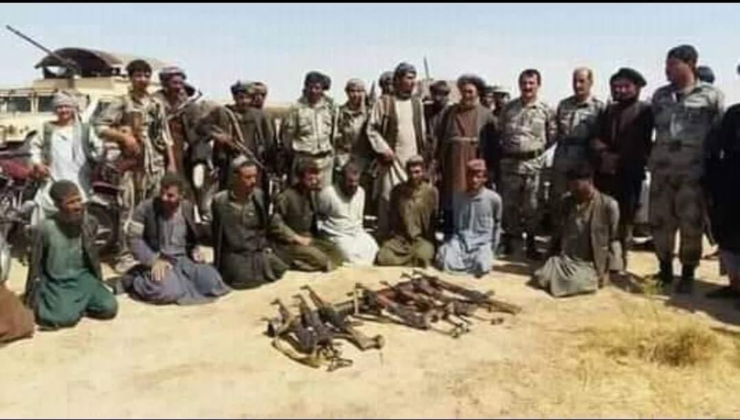 تصویر طالبان باداشت شده در سپین بولدک از سوی پولیس ملی افغانستان منتشر شد