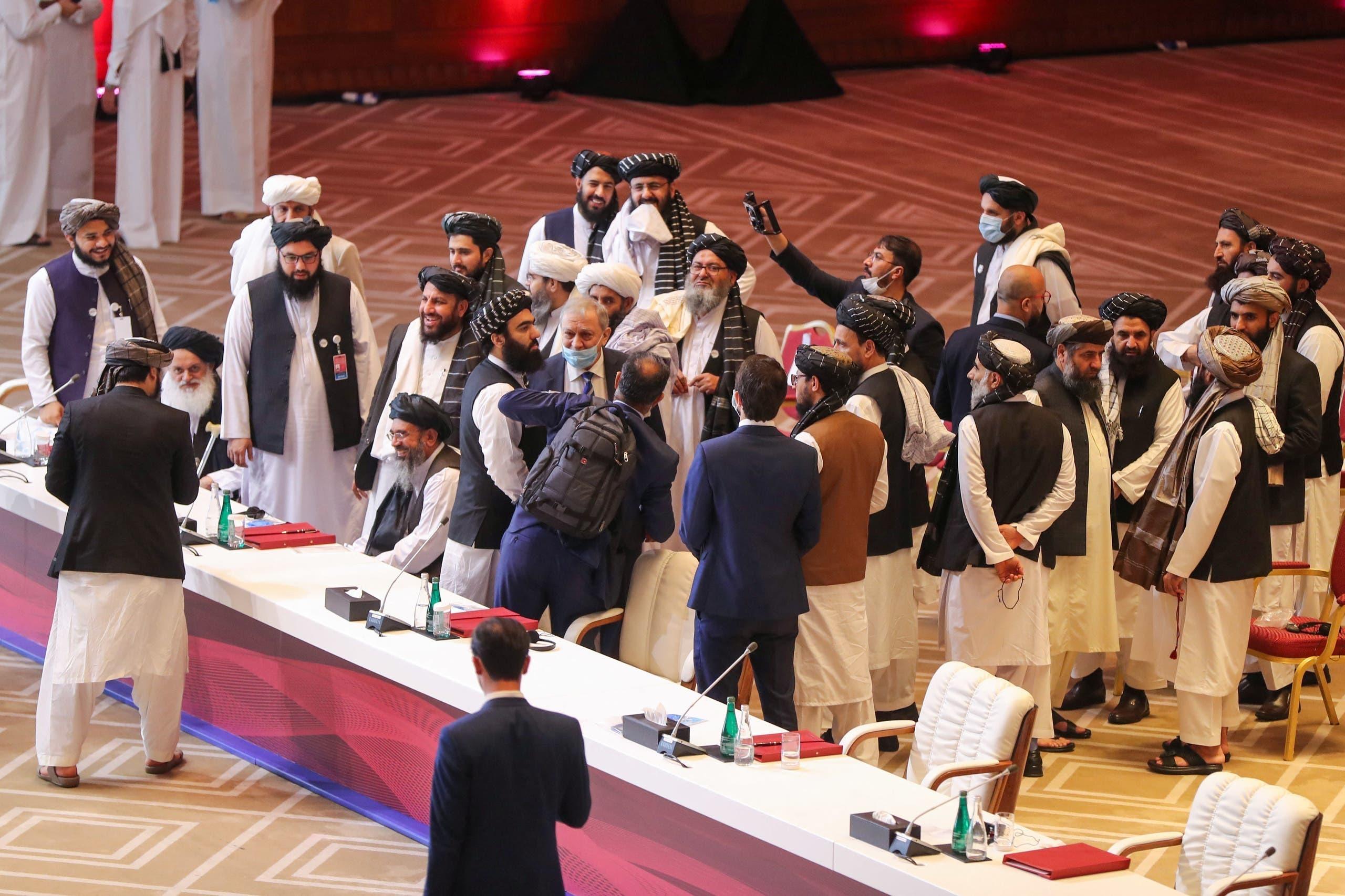 دوحہ میں امن مذاکرات میں شریک طالبان رہنما
