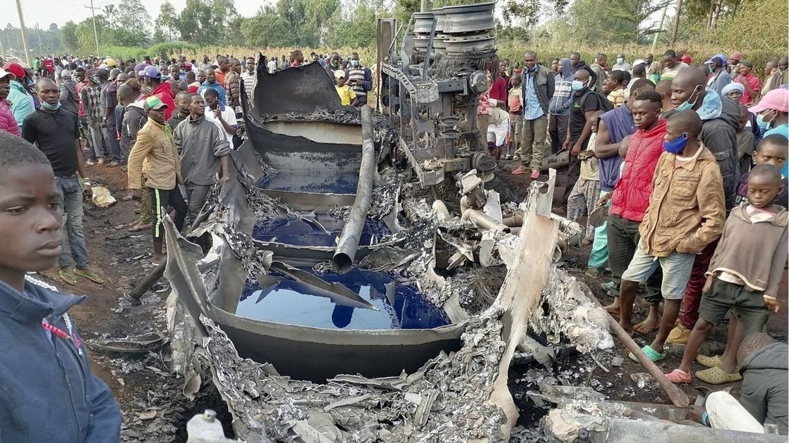 A fuel truck explodes, killing and injuring several people in western Kenya on July 18. 2021. (Twitter)