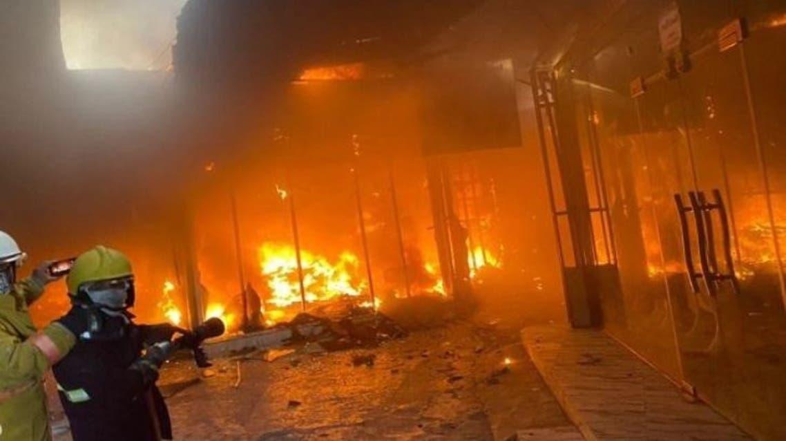 حريق فندق في كربلاء (واع)