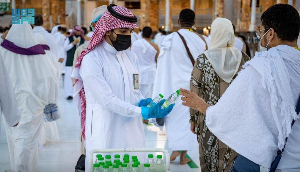 Pilgrims continue to arrive at Grand Holy Mosque for Hajj. (SPA)