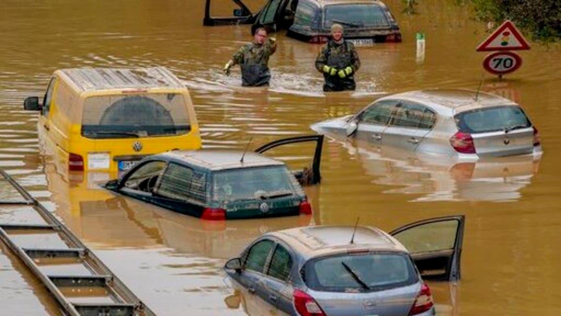 من فيضانات ألمانيا (أ ب)
