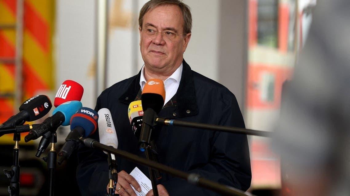 File photo of Armin Laschet taken on July 15, 2021. (AFP)