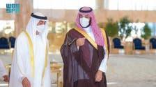 Saudi Arabia's Crown Prince meets with Abu Dhabi's Crown Prince in Riyadh
