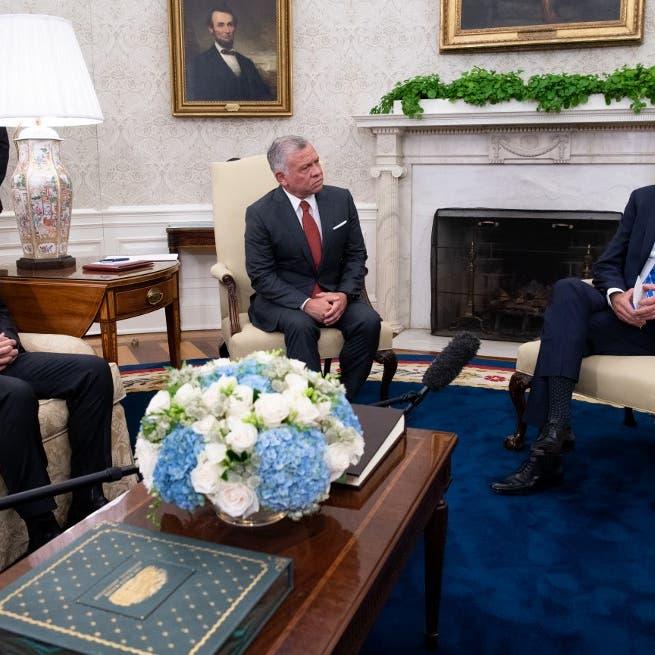 بايدن أثناء لقائه ملك الأردن: سنواصل تعزيز التعاون