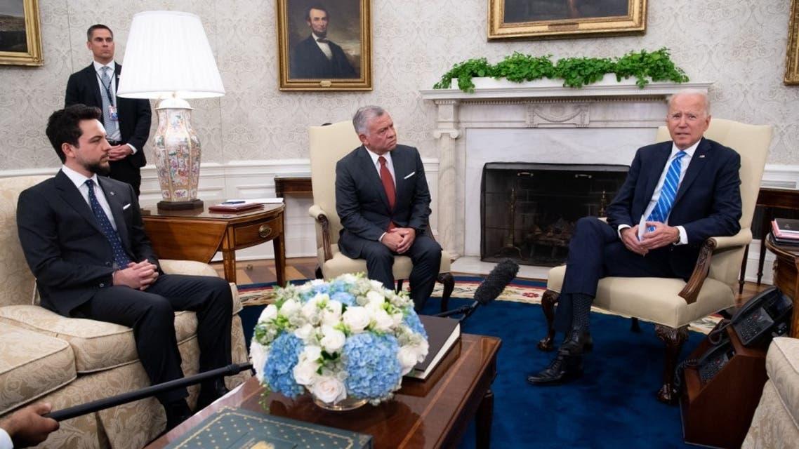الرئيس الأميركي والعاهل الأردني وولي العهد الأمير حسين في البيت الأبيض - 19 يوليو 2021