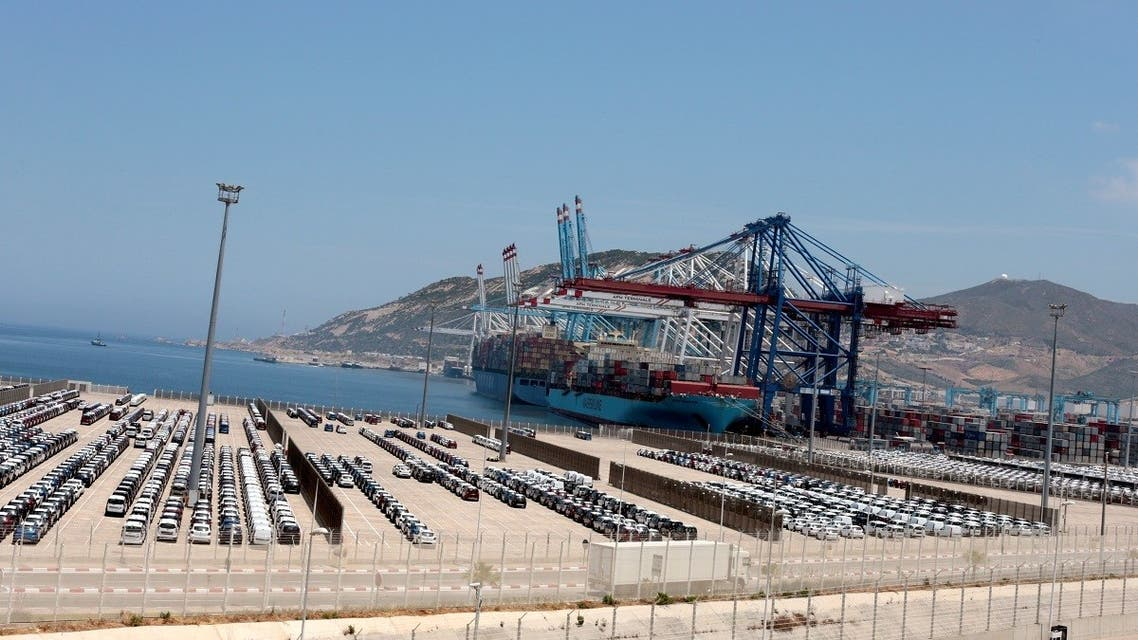 Car industry terminal is pictured at Tanger-Med port in Ksar Sghir near the coastal city of Tangier, Morocco. (Reuters)