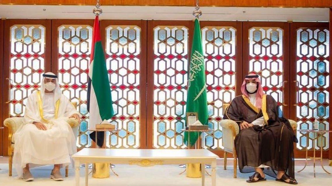 ولي العهد السعودي يجتمع مع ولي عهد أبوظبي في الرياض (واس)