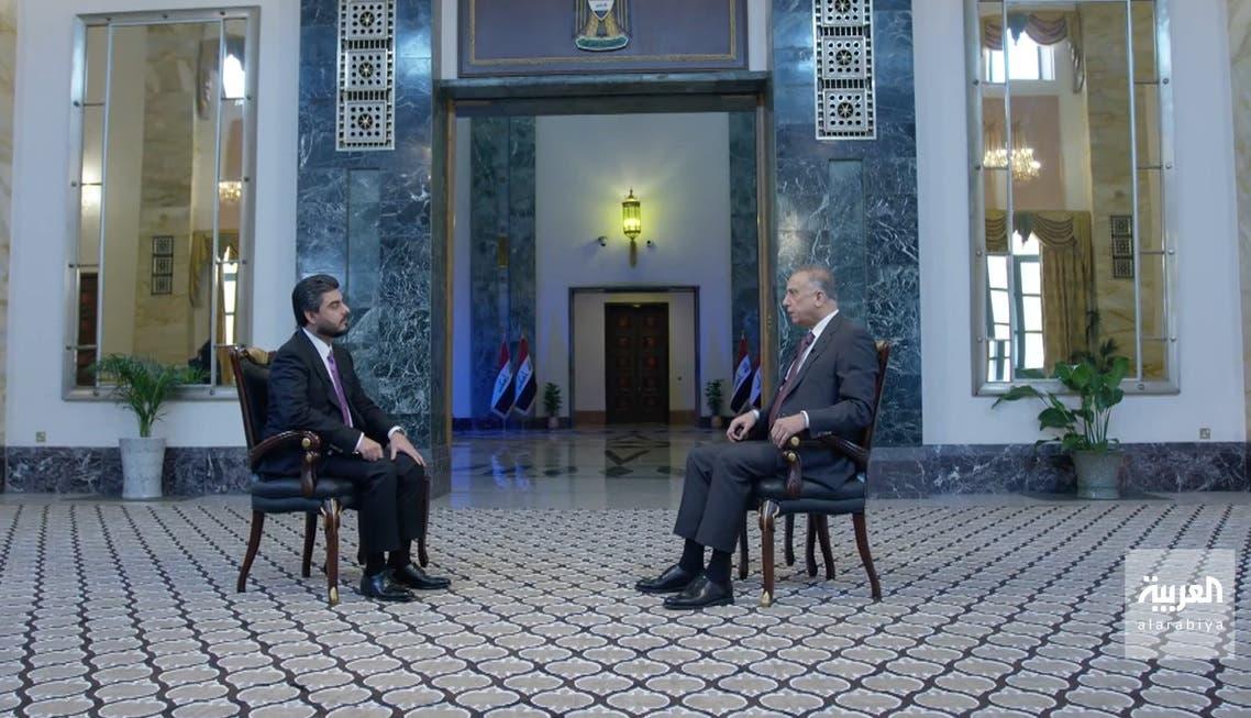 جانب من مقابلة مصطفى الكاظمي مع العربية