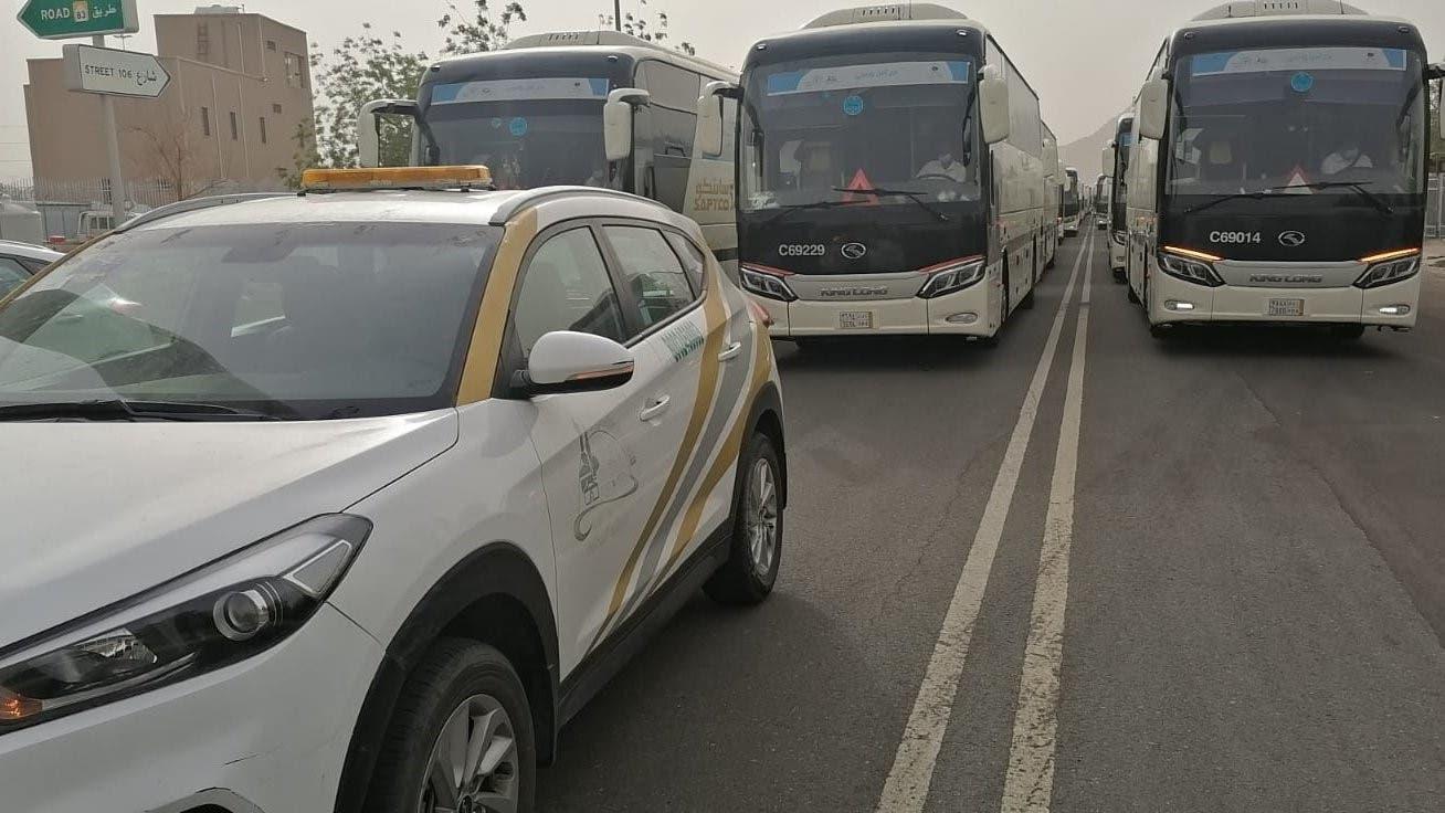 نفرة الحجاج عبر الحافلات