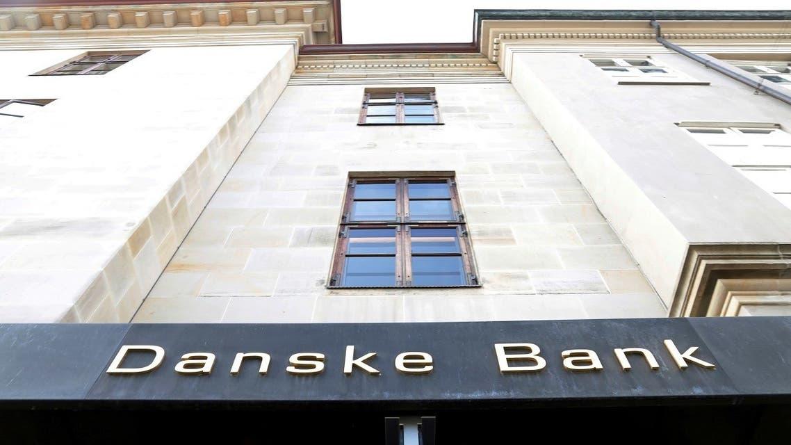 A Danske bank sign is seen on a bank's headquarters in Copenhagen, Denmark Oct. 22, 2019. (Reuters)