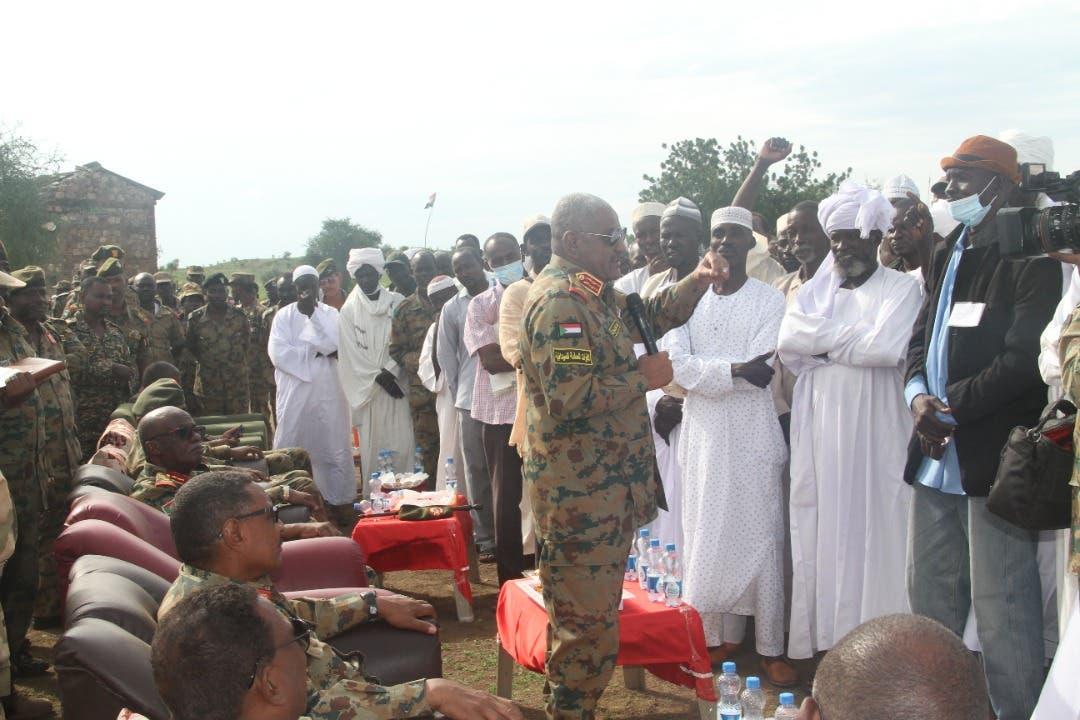 رئيس أركان الجيش السوداني يزور الفشقة