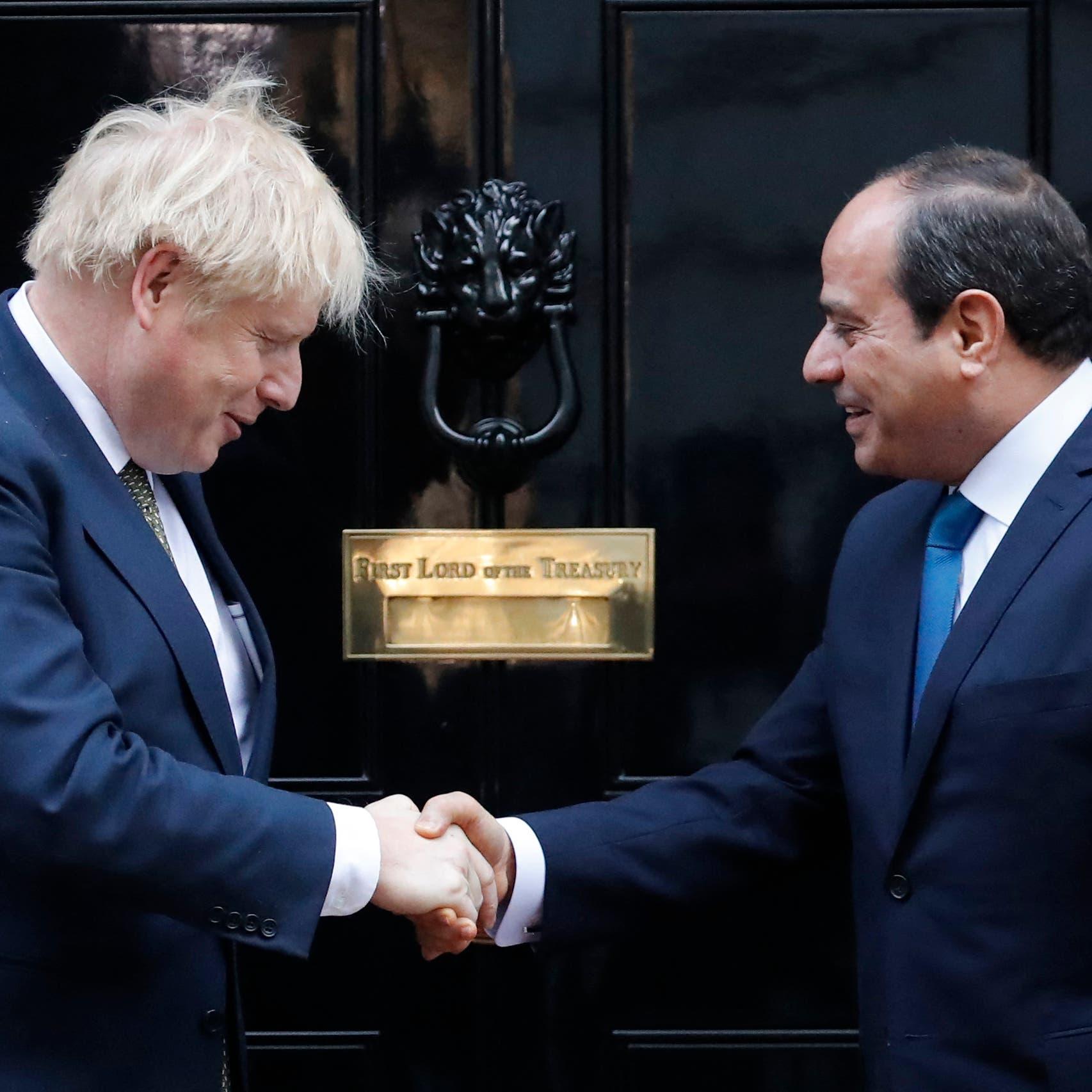 السيسي يؤكد لجونسون تمسك مصر بحقوقها التاريخية في مياه النيل
