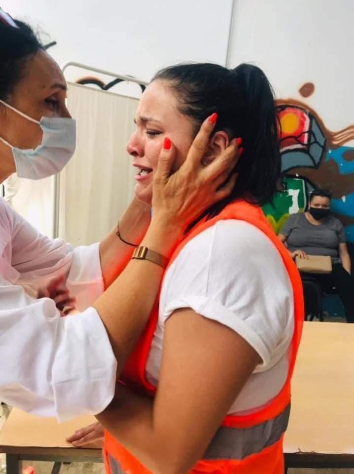 من أحد مراكز التطعيم في تونس اليوم