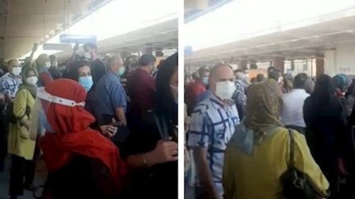 مردم در مترو صادقیه شعار «مرگ بر اصل ولایت فقیه» سر دادند
