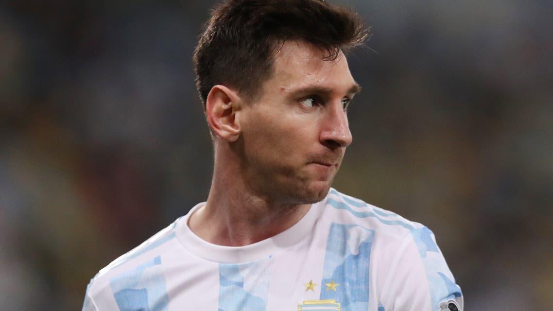 Soccer Football - Copa America 2021 - Final - Brazil v Argentina - Estadio Maracana, Rio de Janeiro, Brazil - July 10, 2021 Argentina's Lionel Messi REUTERS/Amanda Perobelli