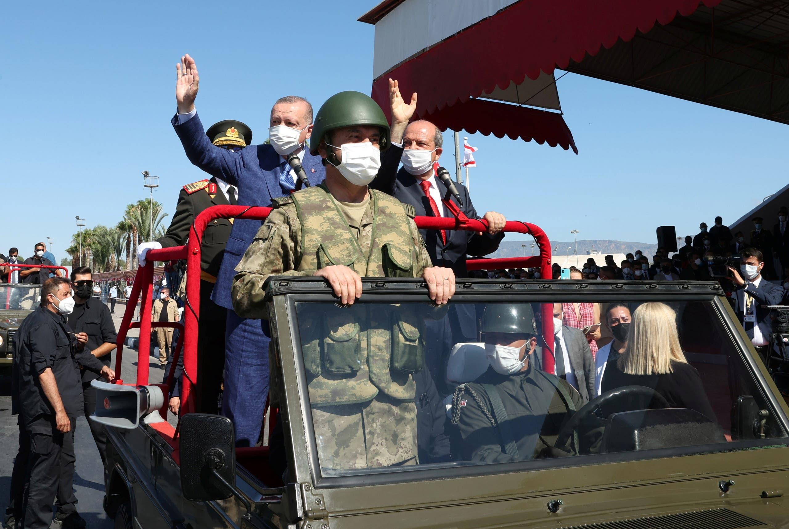 أردوغان في الشطر التركي من نيقوسيا اليوم