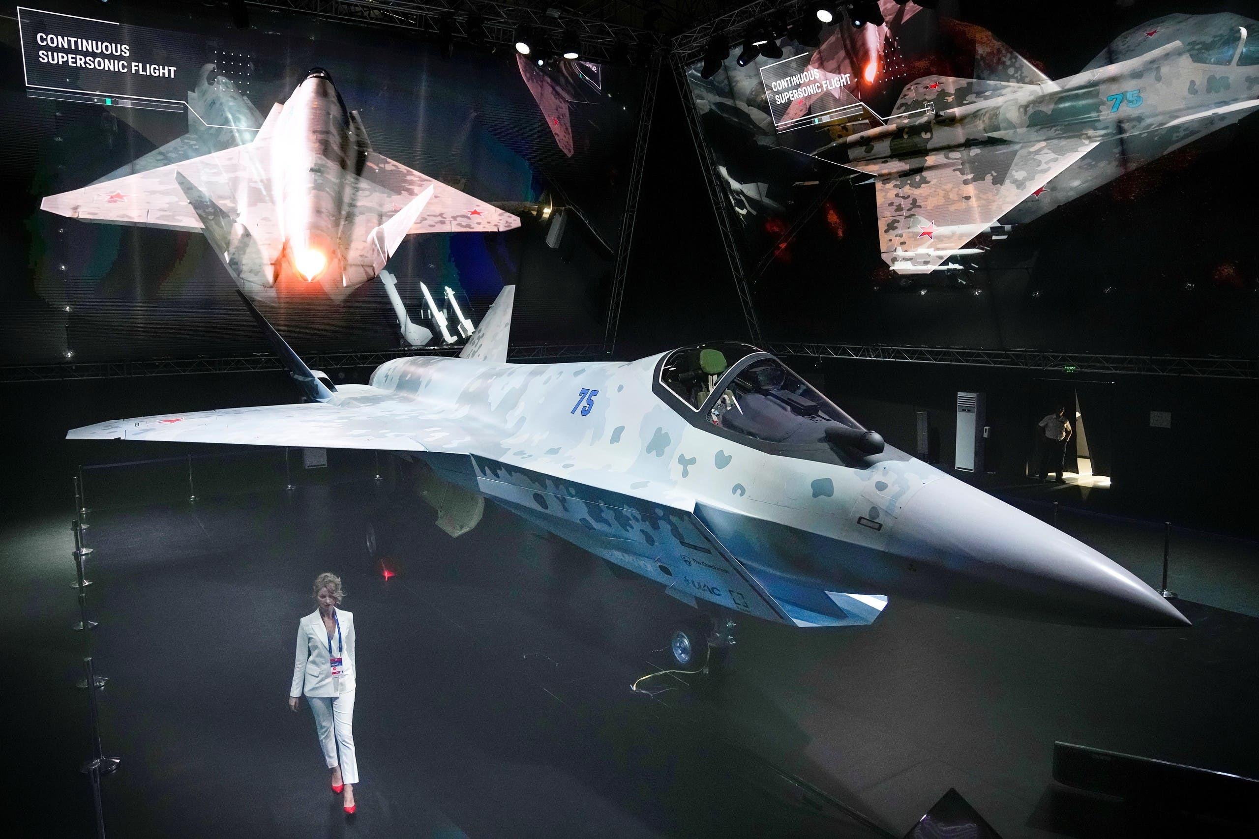 المقاتلة الروسية الجديدة التي تم الكشف عنها الثلاثاء