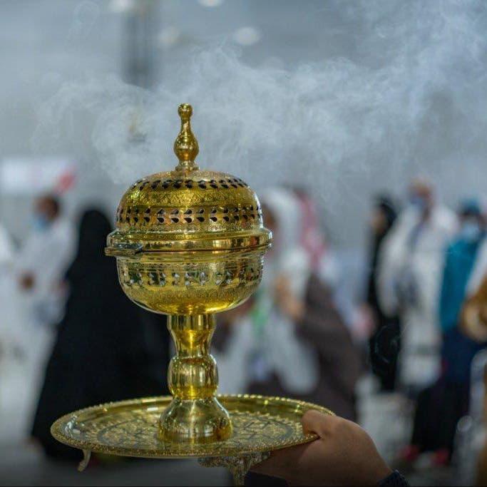 """رائحة """"العود"""" الزاكي تستقبل الحجاج في المسجد الحرام"""