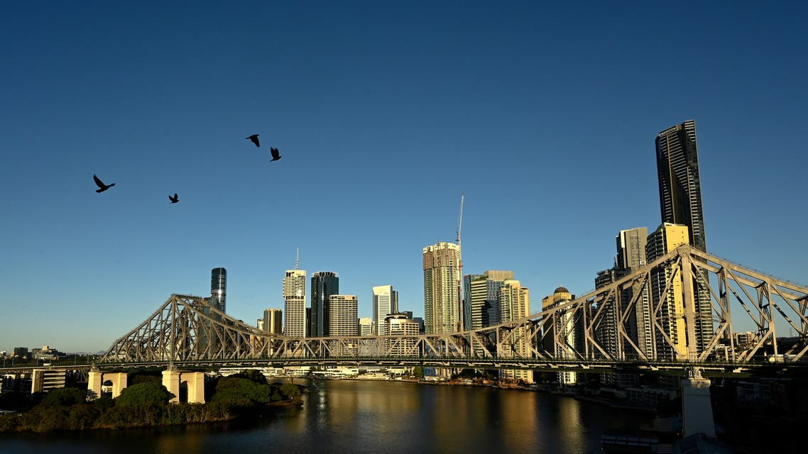 A view of the city skyline of Brisbane, the city expected to be announced as host for the 2032 Olympic Games, in Brisbane, Australia, July 4, 2021. (Reuters)