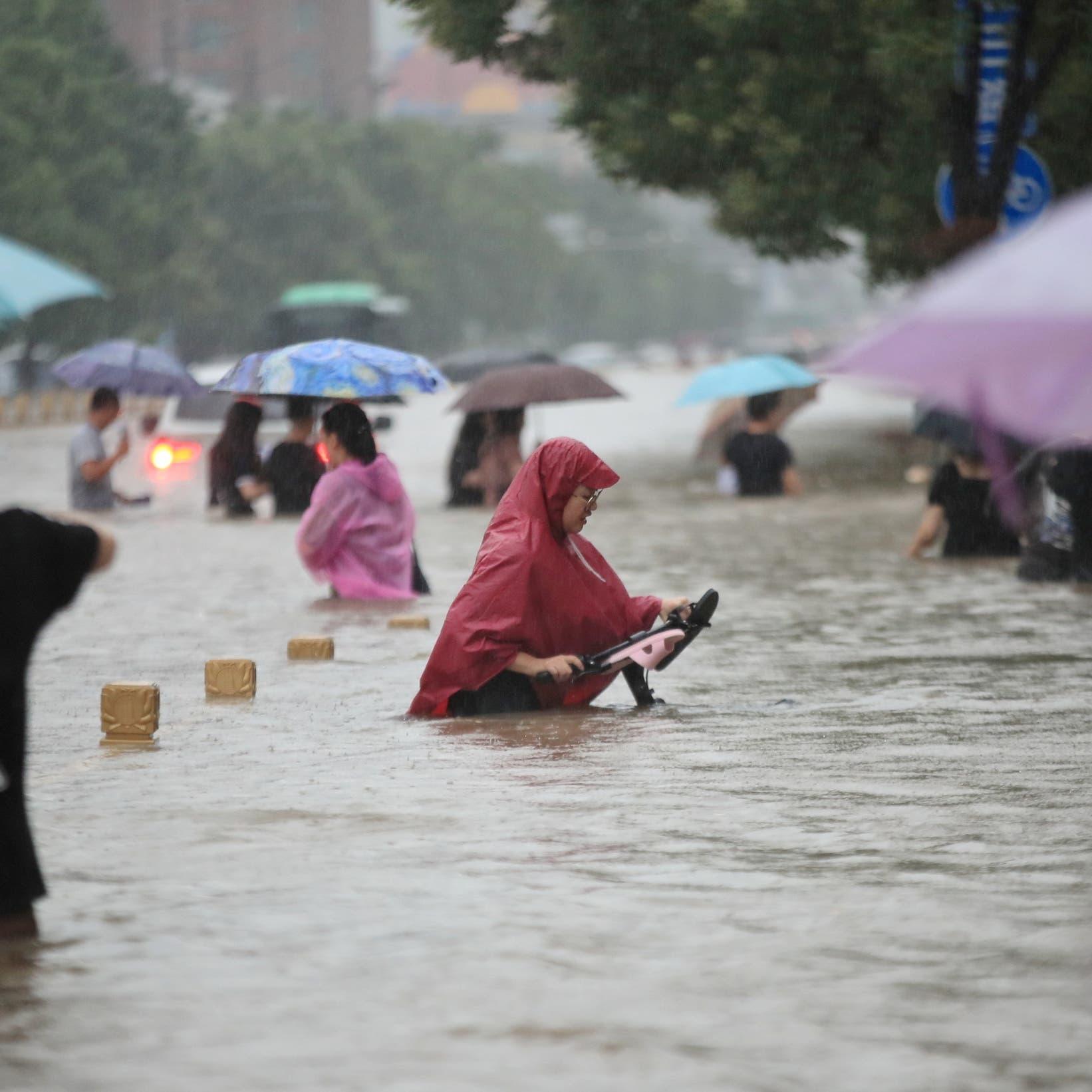 """تحذير من وضع """"خطير جداً"""" بسبب فيضانات الصين"""