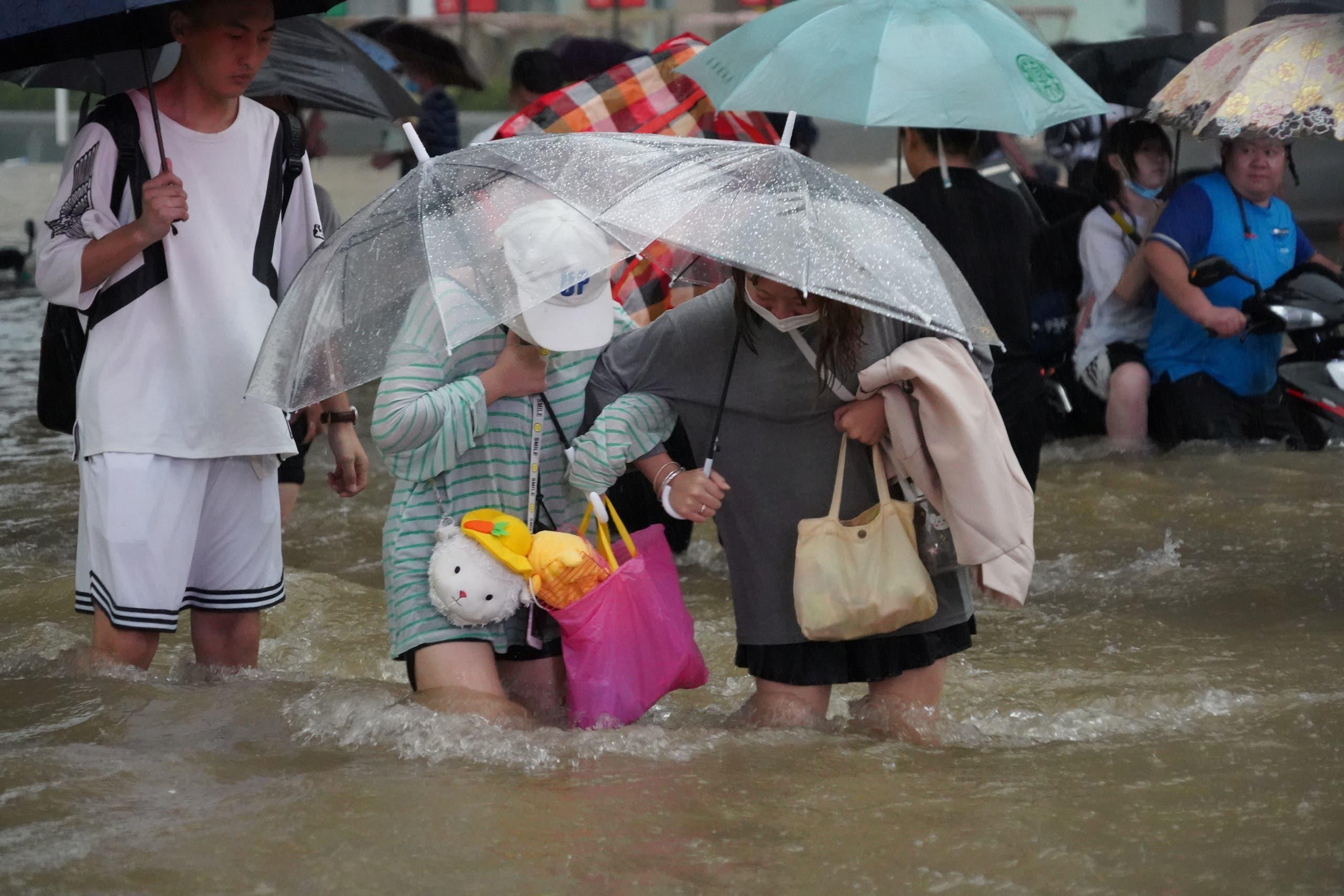 من فيضانات الصين