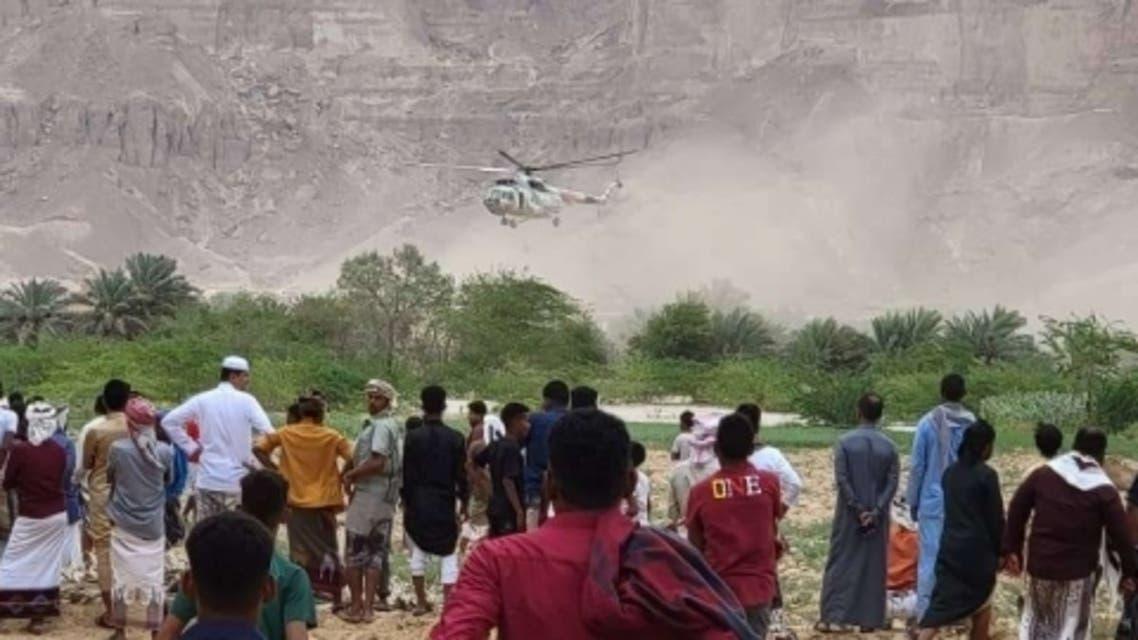 وفاة 7 أشخاص على الأقل في سيول الأمطار الجارفة التي اجتاحت أنحاء واسعة من محافظتي المهرة و شبوة شرقي اليمن 21 يوليو 2021