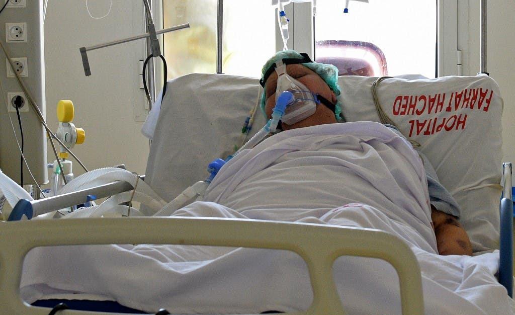 مصابة بفيروس كورونا في مستشفى بمدينة سوسة التونسية - فرانس برس
