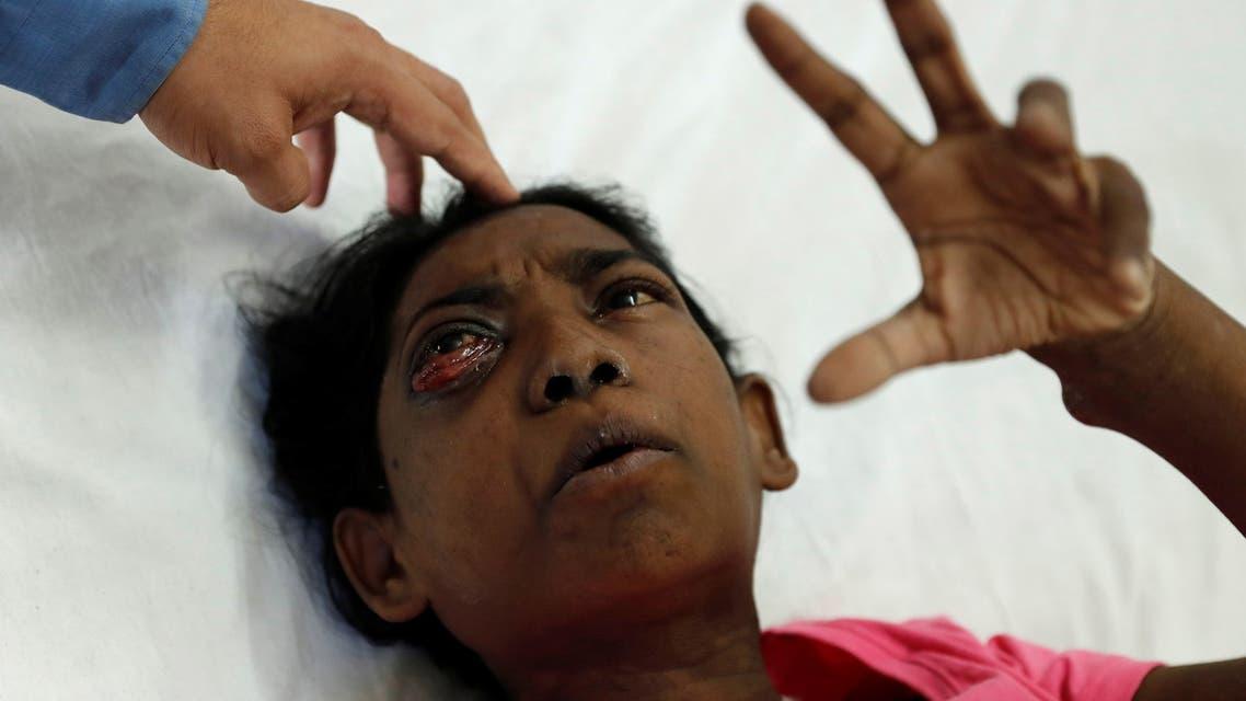 مصابة بالفطر الأسود في الهند (رويترز)