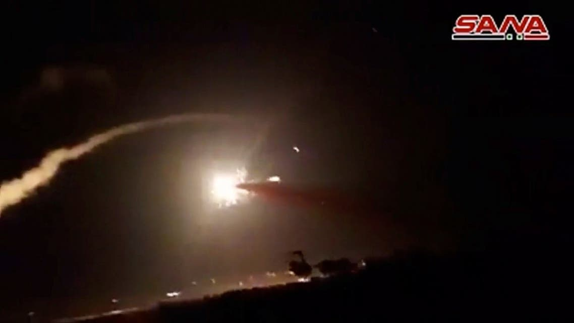 A still image from a video footage shows what appeared to be missile hitting target in air after surface to air missiles were launched into air by Syrian military in Homs, Syria. (File photo: Reuters)