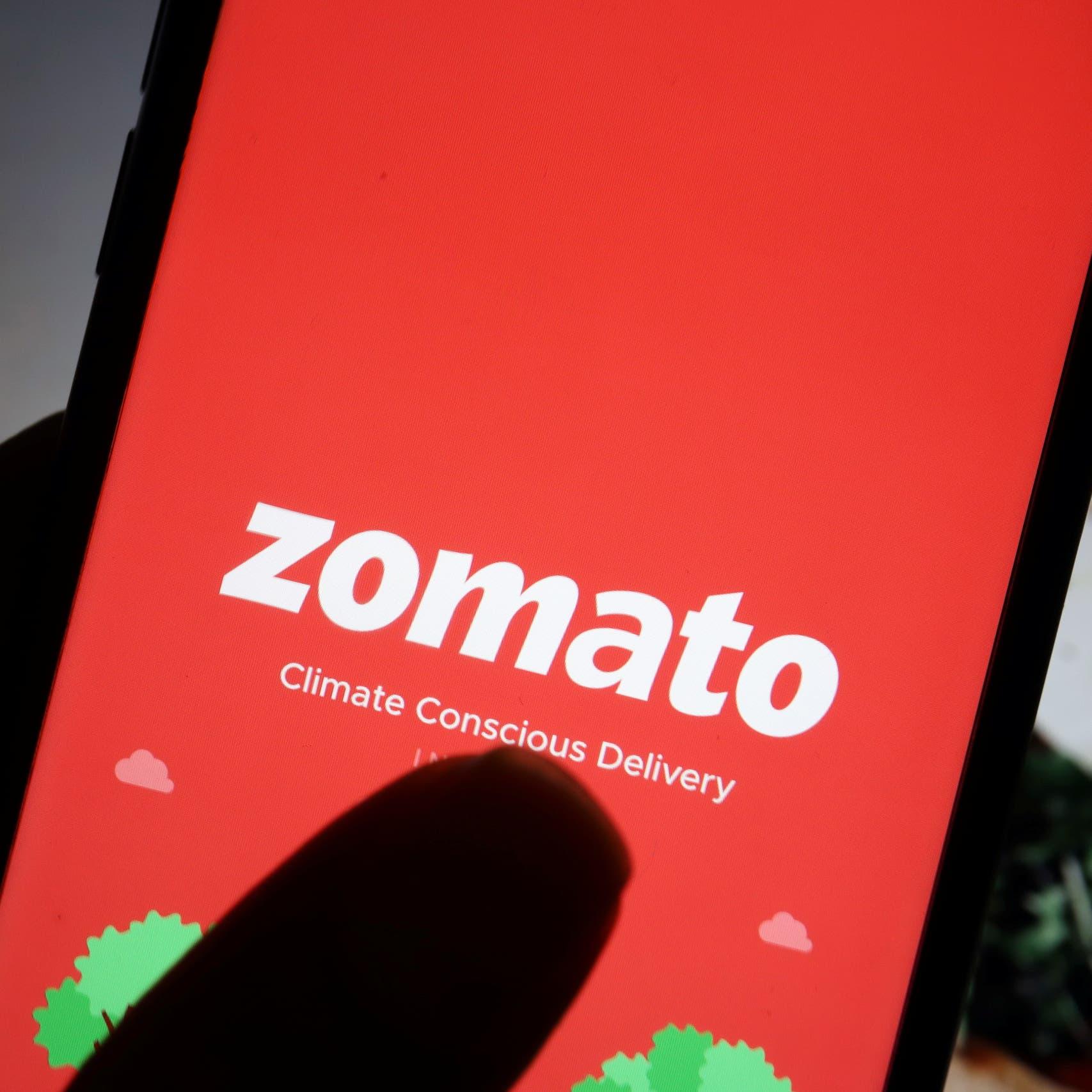 """سهم """"زوماتو"""" الهندية المدعومة من """"النملة"""" يقفز 66% في أول يوم له في البورصة"""