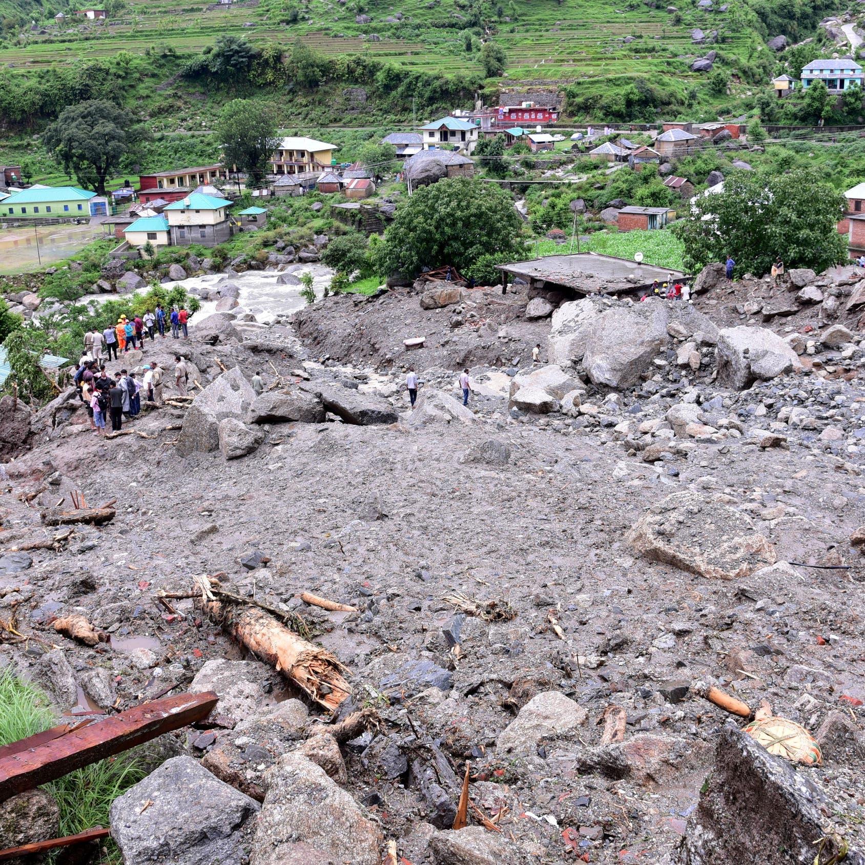 انزلاقات التربة في الهند.. 36 قتيلاً وعشرات المفقودين