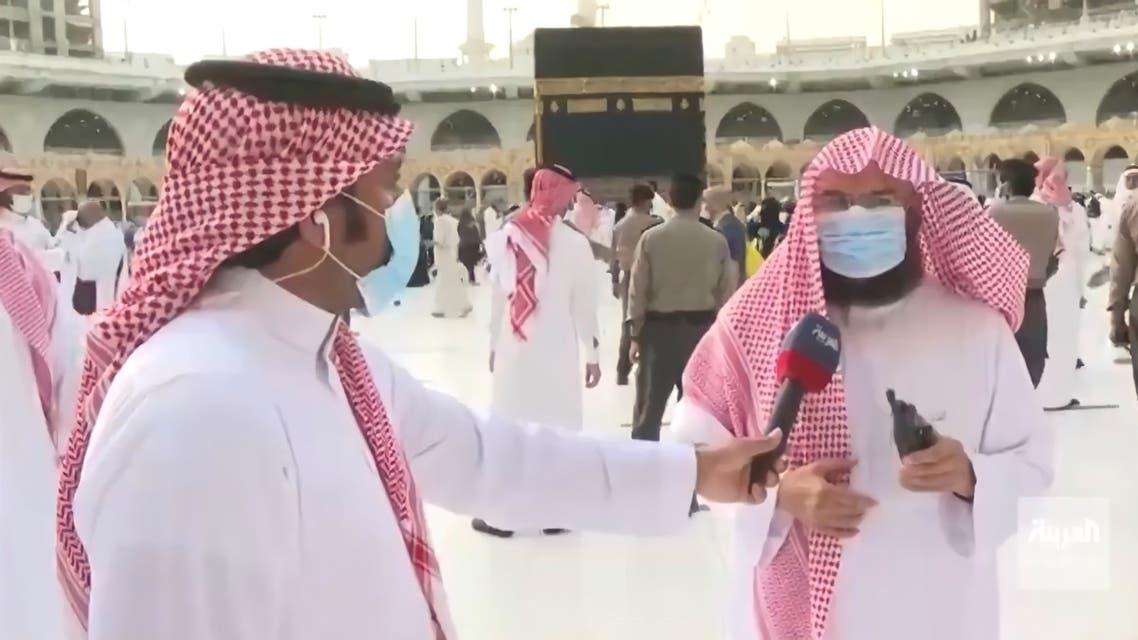 د السديس يتحدث إلى العربية