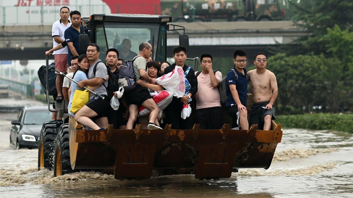 فيضانات الصين (أ ف ب)