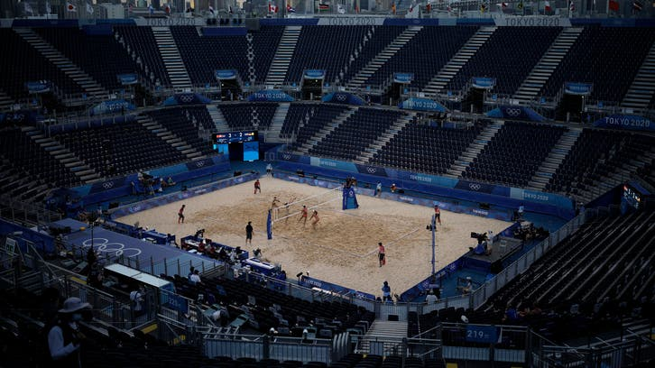 Canceled party: Scrubbed match silences Olympic beach venue