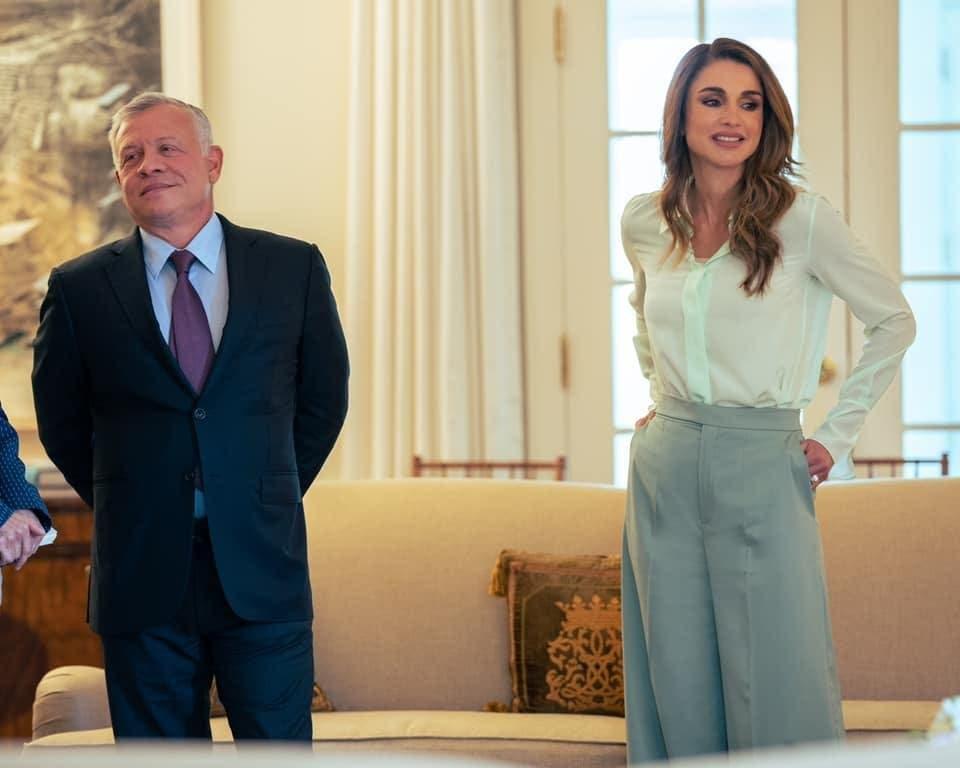 الثنائي الملكي خلال لقاء الرئيس التنفيذي لشركة فايزر