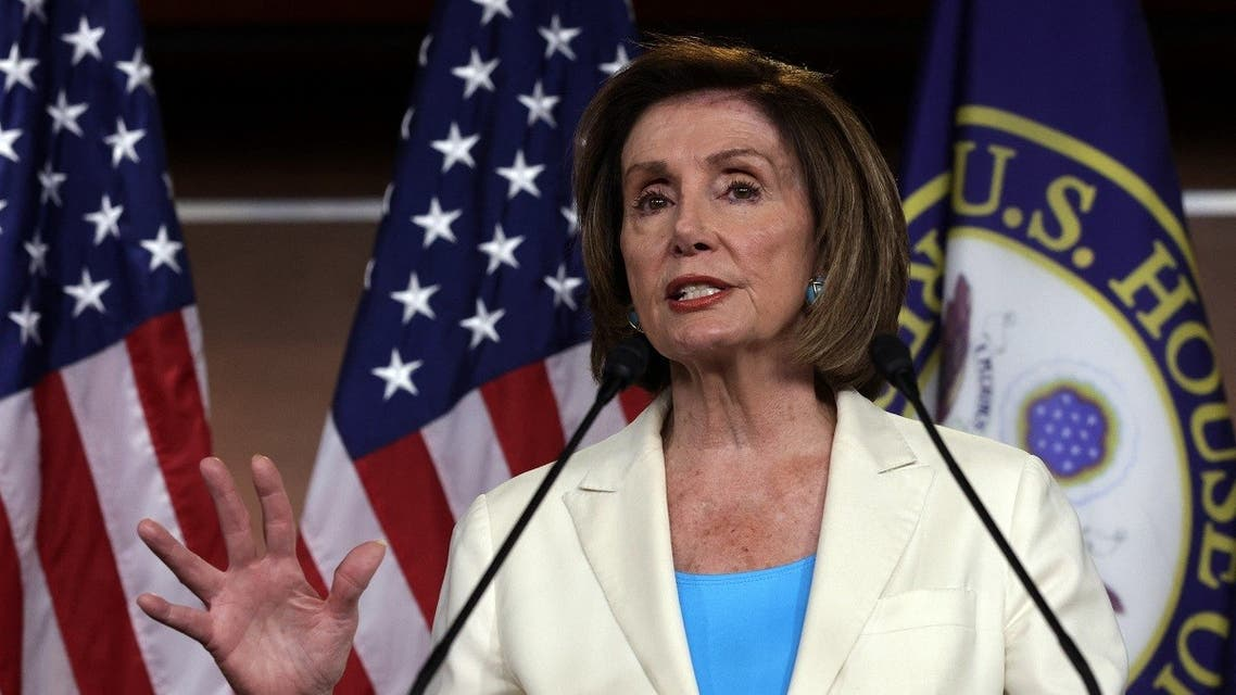 US Speaker of the House Rep. Nancy Pelosi (D-CA) speaks during a weekly news conference at the US Capitol July 1, 2021 in Washington, DC. (AFP)