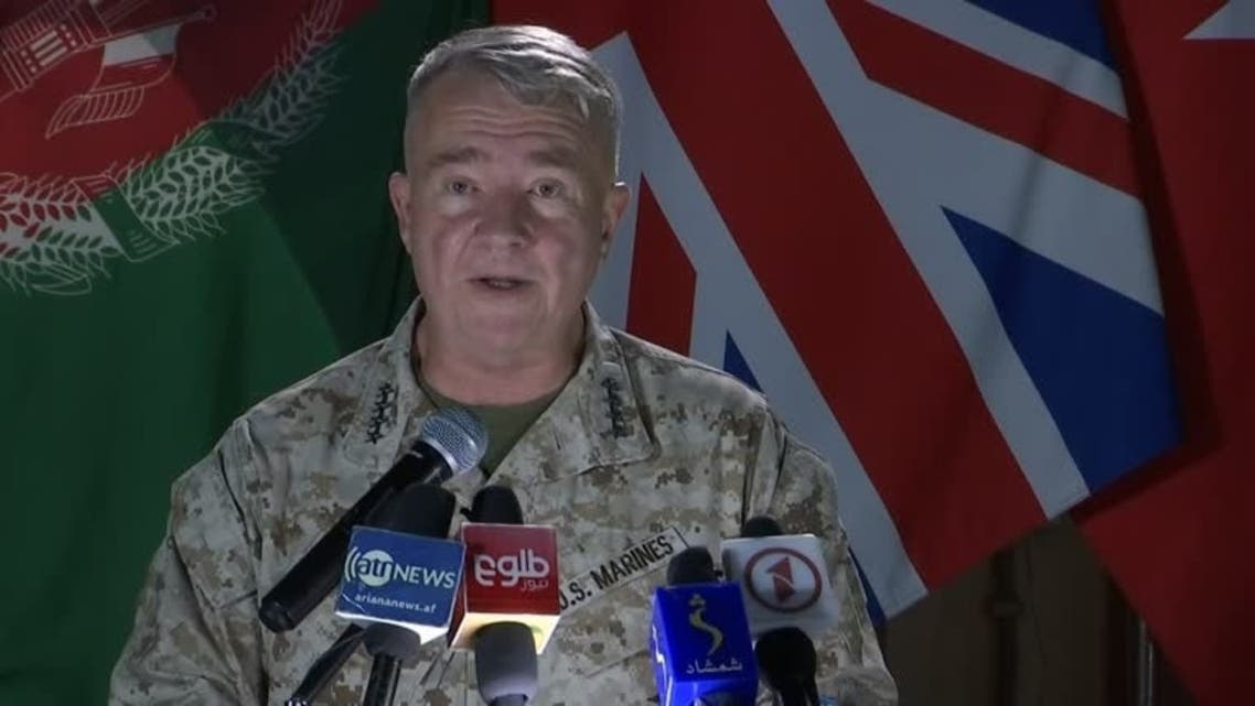 US Marine General Kenneth McKenzie during a news conference in Kabul, July 25, 2021. (Reuters)