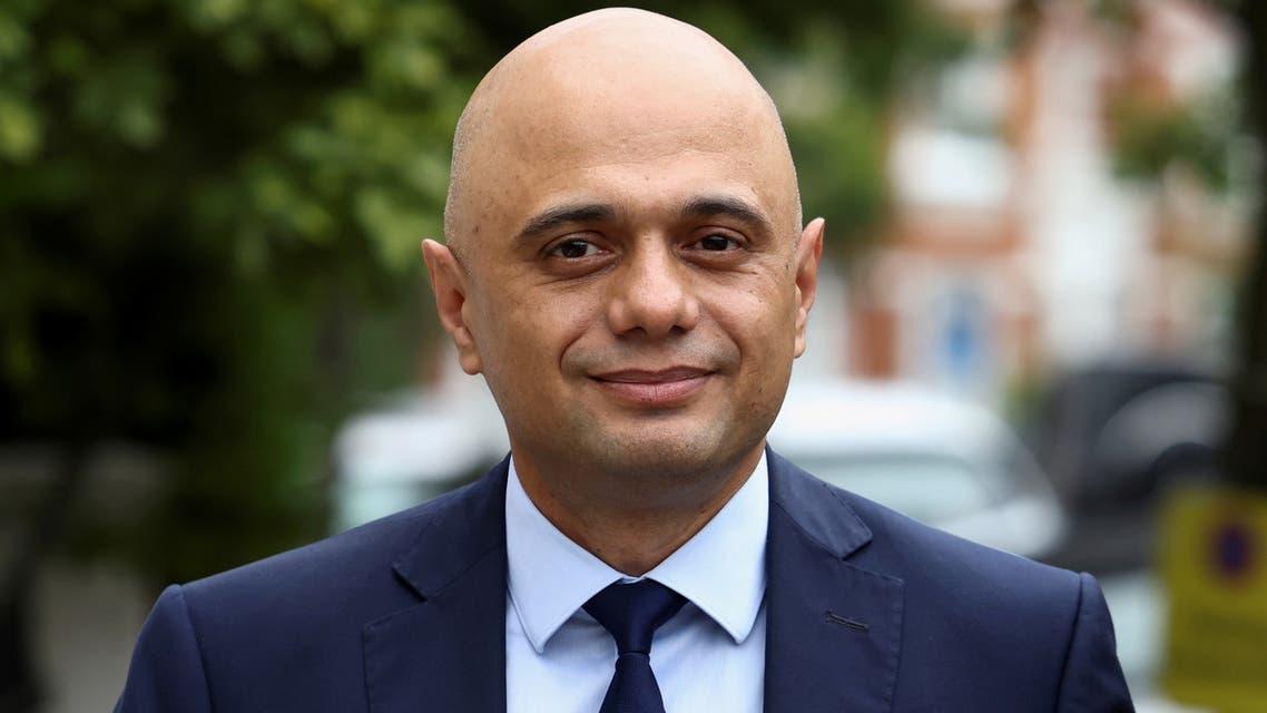 FILE PHOTO: Britain's new Health Secretary Sajid Javid walks outside his home in London, Britain June 27, 2021. REUTERS/Henry Nicholls/File Photo